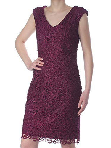 Lauren by Ralph Lauren Women's Lace Cocktail Dress (0, Exotic Ruby)