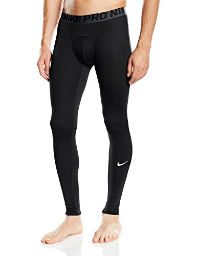 Nike Mens Pro tight, Black/Dark Grey/White, Large