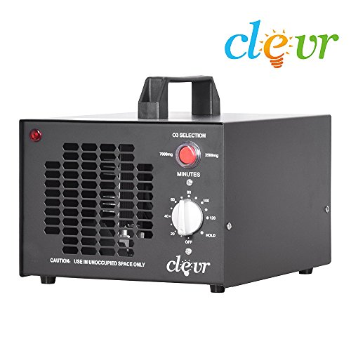 Commercial Clevr Ozone Generator Dual 7000/3500 mg/h O3 Air Purifier Deodorizer | 1 YEAR LIMITED WARRANTY