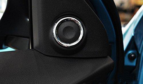 2 pezzi cromati in ABS 2019 Anelli per altoparlanti stereo ASX 2010