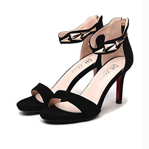 Helen Sandali Femmina Estate Tacchi alti Fine Fashion (Nero) ( dimensioni : 38 yards )
