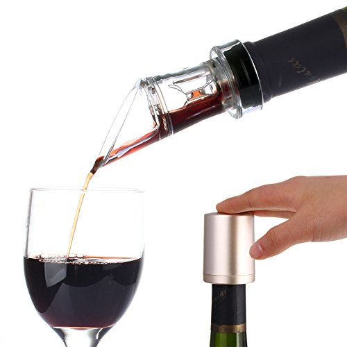 Wine Aerator and Vacuum Wine Stopper The Perfect Bar Gift Accessory (Set)