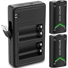 [Patrocinado] Versión mejorada Xbox One batería Pack 2x 2000mAh batería recargable para Xbox One/Xbox One S/Xbox One x/Xbox One driver Inalámbrico Elite