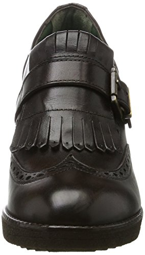British Passport Damen Wing Cap Ankle Boot Dunkelbraun