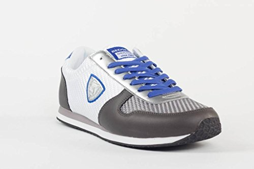 en Gris Baskets Bleu Toile Blanc Blanc Gris Redskins Bleu Disca Chaussures 8EqwUf