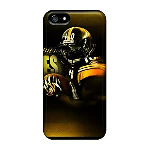 GAwilliam Iphone 5/5s Hybrid Tpu Case Cover Silicon Bumper Pittsburgh Steelers