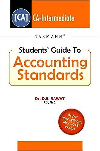 Students' Guide to Accounting Standards (CA-IPC) -November 2017 Exams (May 2018 Exams)