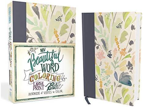 NIV, Beautiful Word Coloring Bible, Large Print, Cloth over Board