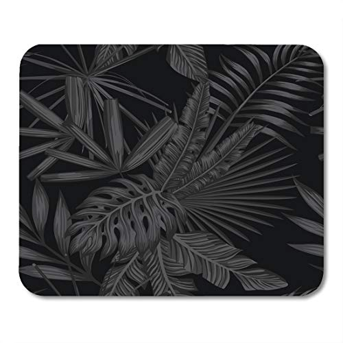 Boszina Mouse Pads Tropic Green Palm Tropical Leaves in Black and White Style Beach Tree Leaf Mouse Pad for notebooks,Desktop Computers mats 9.5