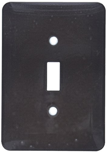 3dRose lsp_163484_1 Image of Gray Dark Solid Charcoal Hue Light Switch Cover