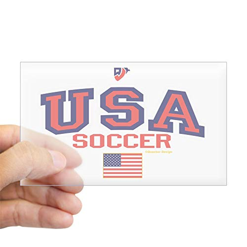 CafePress USA American Soccer Rectangle Bumper Sticker Car Decal