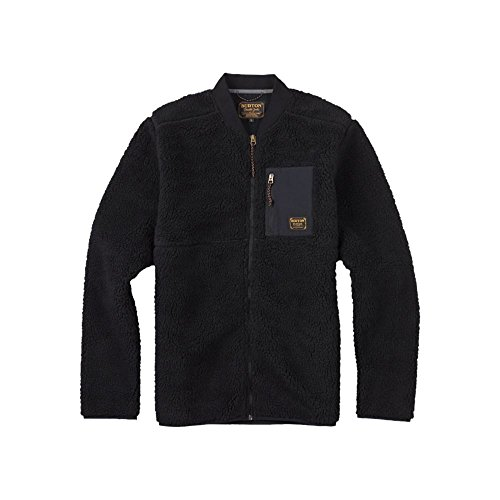 Burton Men's Grove Full-Zip Fleece, True Black, Medium by Burton