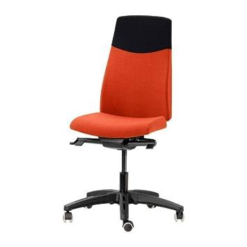 Ikea VOLMAR - Silla giratoria, Naranja: Amazon.es: Hogar