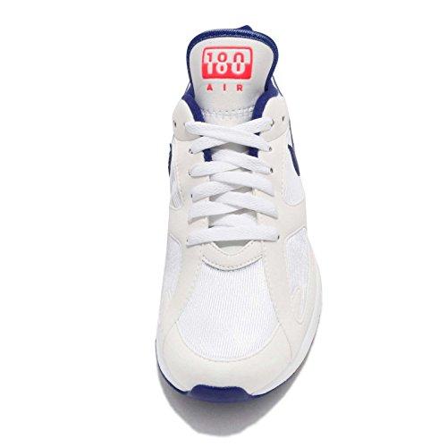 newest 093f3 1ac2f ... Nike Wmns Air Max 180, Chaussures de Gymnastique Femme Multicolore ( Blanc Noir
