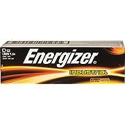 Energizer D Alkaline Industrial Batteries1.5v, Box of 12