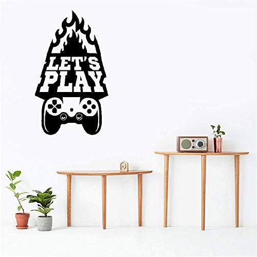 Bluegiants Vinyl Wall Art Inspirational Quotes and Saying Home Decor Decal Sticker Game Handle Let's Play for Game Room Playroom ()
