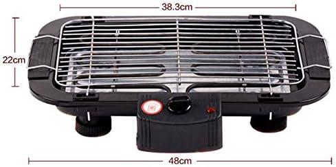 GLXQIJ Barbecue IntéRieur Grand Gril éLectrique avec Surface De Cuisson Et Thermostat De Nettoyage Facile, 2000 W