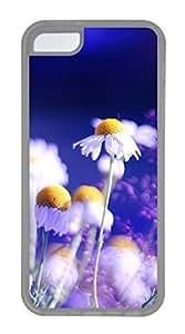 iPhone 5c case, Cute White Chrysanthemum 4 iPhone 5c Cover, iPhone 5c Cases, Soft Clear iPhone 5c Covers