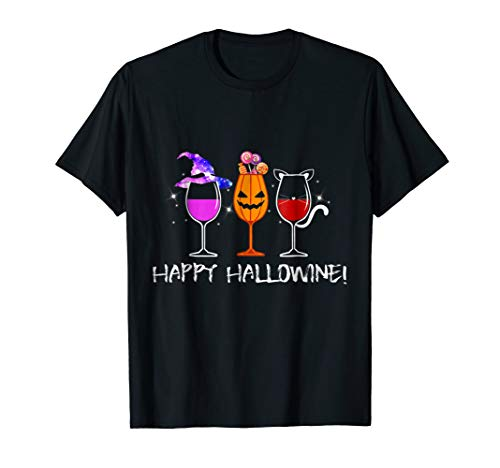 (Happy Hallowine T-Shirt Gift For)
