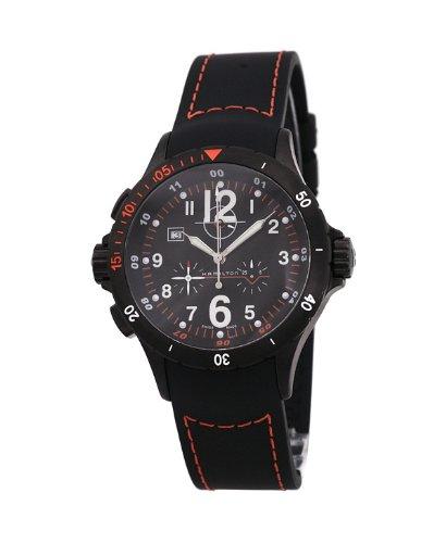Hamilton Khaki Aviation Air Chrono H74592333 - Reloj de caballero de cuarzo, correa de caucho