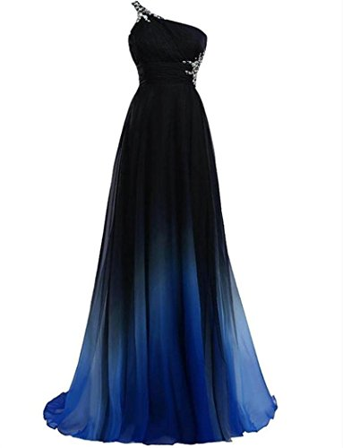 ombre evening dress - 5