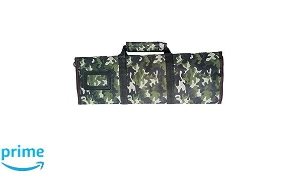 Impermeable Roll bolsa multiusos cuchillo de chef cuchillo de lienzo Rollo Bolsa Bolsa con asa correa hgj03-r Camoouflage