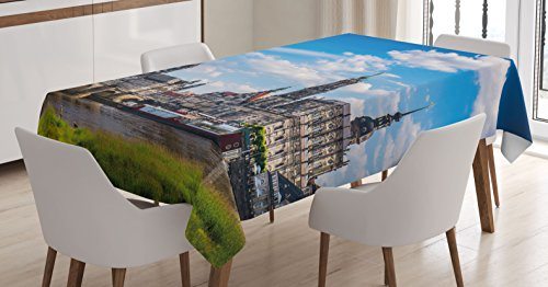 Cityscape Tablecloth by Ambesonne, Ancient Town Dresden Old