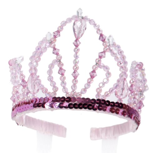 Great Pretenders Pink Beauty Tiara (One Size) (Beauty Queen Fancy Dress)