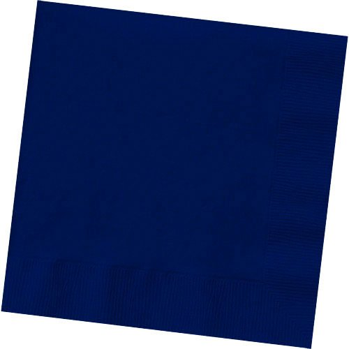 2-Ply Luncheon Napkins, 50 Pieces, Made from Paper, Navy Blue by Amscan - Party Luncheon Napkins