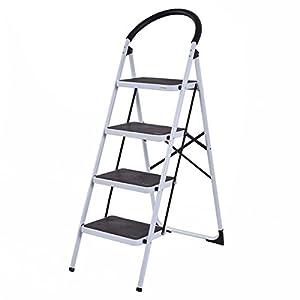 Giantex 4 Step Ladder Folding Stool Heavy Duty 330Lbs Capacity Industrial Lightweight