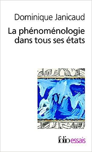 Livre La phénoménologie dans tous ses états pdf, epub ebook