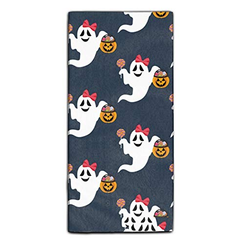 Miaoquhe Halloween Ghost Towel Super Absorbent Blanket Quick Dry Towel 11.8 X 27.5 -