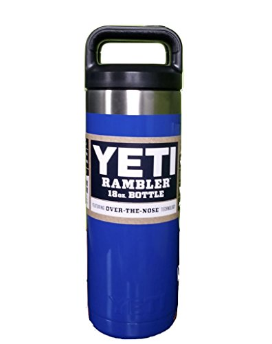 YETI Coolers 18 Ounce (18oz) (18 oz) Custom Powder Coated or Hydro Dipped Rambler Sports Water Bottle (Royal Blue)