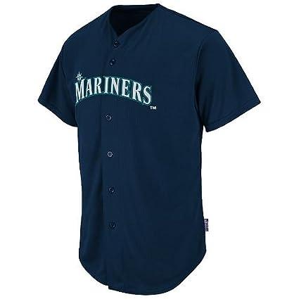 9fdd9221c Adult 2XL Seattle Mariners BLANK BACK Major League Baseball Cool-Base  Replica MLB Jersey