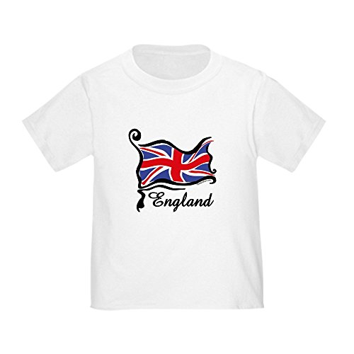 CafePress Funky British Flag Cute Toddler T-Shirt, 100% Cotton White - Funky Toddler T-shirts