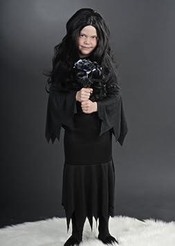 Delights Disfraz de Morticia de Halloween del tamaño para niños ...