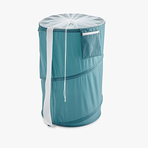 Roomify Pop-Up Nylon Laundry Hamper, Teal by Roomify