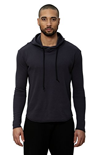 Uncommon Thrds Mens Thermal Scooped Hem Hoodie Aubergine - Large by UNCOMMON THRDS