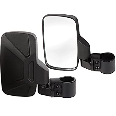 Offroad Rear View Side Mirror for UTV (Pack of 2) For 1.6  - 2  Roll Cage Bar, Break Away w/ Adjustable Arm Quad Gear - High Impact Shatter-Proof Tempered Glass (Fits Driver and Passenger Side)