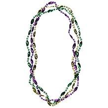 Beistle 50571 12-Pack Mardi Gras Swirl Beads, 33-Inch