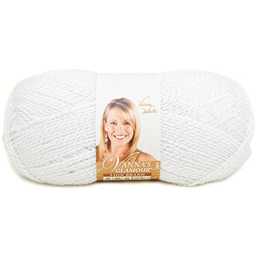 Lion Brand Yarn 861-100L Vanna's Glamour Yarn, Diamond