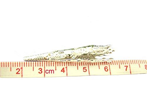 Housweety Bijoux Accessoires 60 Perles Caps Coupelle conique Argente 9*40mm