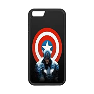 caja del teléfono iPhone 6 más la caja del teléfono celular Funda Negro Comics Capitán América F1E2BP 5,5 pulgadas Funda trasera dura