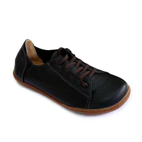 Zehe Weibliche Schuhe Damen Leder Spitze XHCHE Frauen Flaches Schlichte Moccasins Schuhe TzWXq