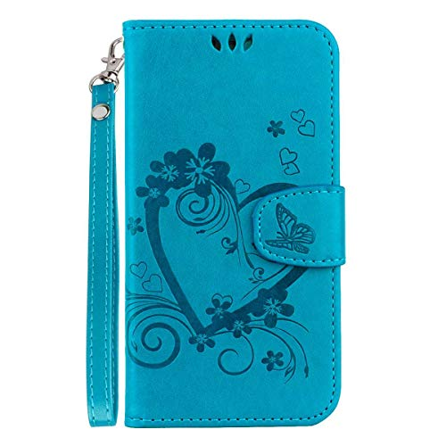 Price comparison product image Galaxy S10e Case,  Bear Village Flip PU Leather Wallet Cover,  Shockproof Case with Magnetic Closure and Card Slots Holder for Samsung Galaxy S10e,  Blue