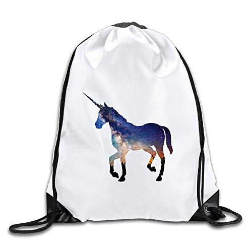 Discovery Wild Unicorn Polyester Drawstring Backpack Sack Bag Home Travel Sport Storage Use