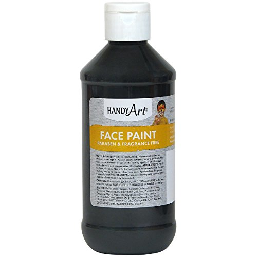- Handy Art Face Paint, Black, 8-Ounce