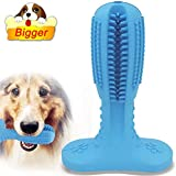 [Bigger! for Large Dog] Dog Toothbrush Stick Puppy Toothbrush Chew Toy with Durable Natural Hard Rubber for Small and Large Breed, Effective Doggy Teeth Cleaner for Pets Oral & Dental Health Care
