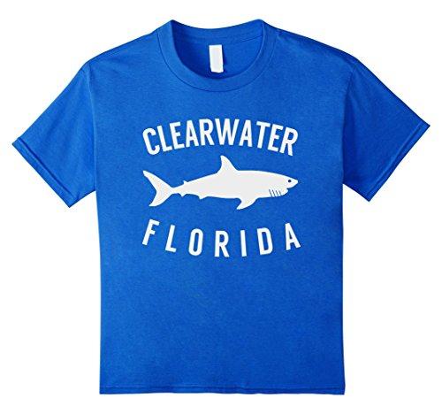 unisex-child Clearwater Florida T Shirt Shark FL Souvenirs 6 Royal Blue ()
