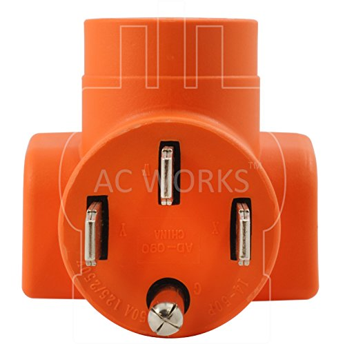 AC WORKS [AD1450L1420] Range/ RV/ Generator Outlet Adapter 4-Prong 14-50P Plug to 4-Prong 20Amp Locking L14-20R Adapter by AC WORKS (Image #2)